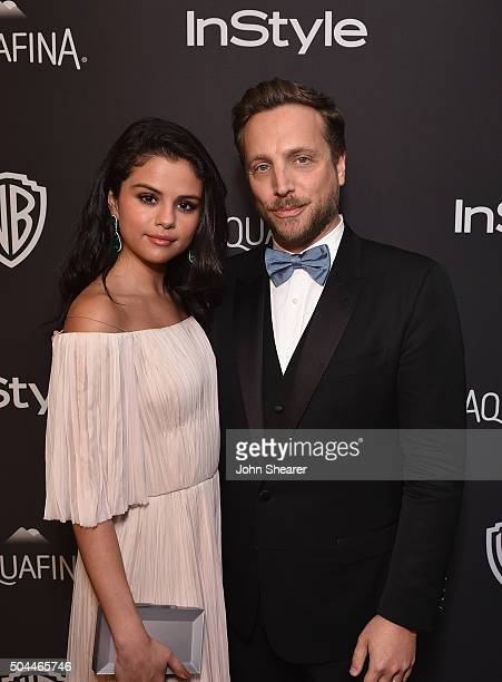 Actress Selena Gomez and InStyle Editorial Director Ariel Foxman attend The 2016 InStyle and Warner Bros 73rd annual Golden Globe Awards PostParty at...