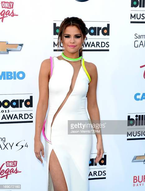 Actress Selena Gomez arrives at the 2013 Billboard Music Awards at the MGM Grand Garden Arena on May 19 2013 in Las Vegas Nevada