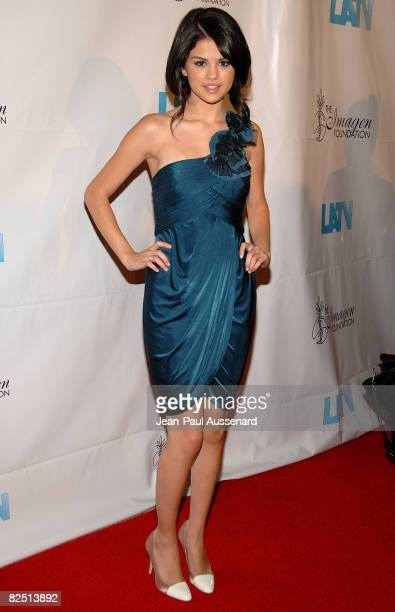 Actress Selena Gomez arrives at the 23rd Annual Imagen Awards held at the Beverly Hilton on August 21 2008 in Beverly Hills California