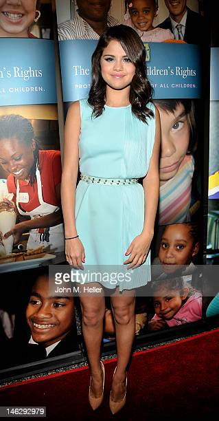Actress Selena Gomez arrives at the Alliance For Children's Rights 3rd Annual Right To Laugh at the Avalon Theater on June 12 2012 in Hollywood...