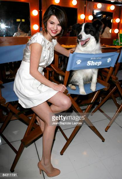 Actress Selena Gomez arrives at the Los Angeles premiere of 'Hotel For Dogs' at the Grove Pacific Theatres on January 15 2009 in Los Angeles...