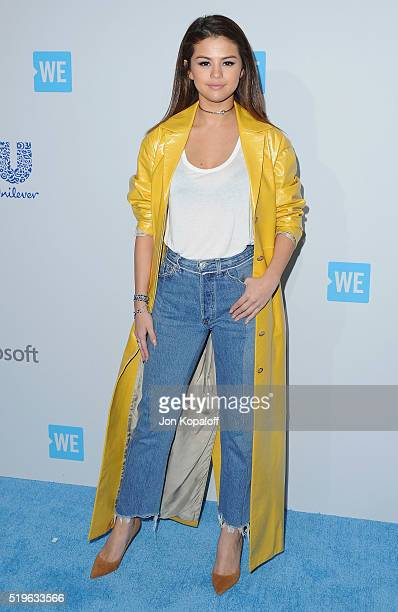 Actress Selena Gomez arrives at WE Day California at The Forum on April 7 2016 in Inglewood California