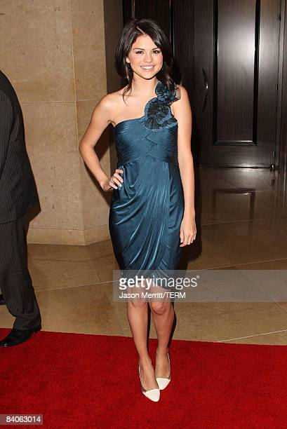 Actress Selena Gomez arrives to the 23 Annual IMAGEN Awards on August 21 2008 in Beverly Hills California