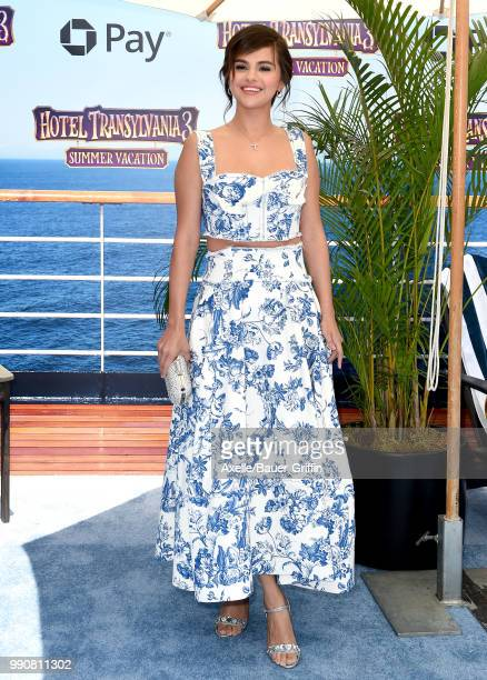 Actress Selena Gomez attends Columbia Pictures and Sony Pictures Animation's World Premiere of 'Hotel Transylvania 3 Summer Vacation' at Regency...