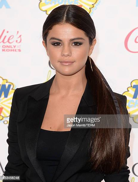 Actress Selena Gomez attends FOX's 2014 Teen Choice Awards at The Shrine Auditorium on August 10 2014 in Los Angeles California