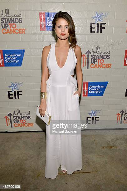 Actress Selena Gomez attends Hollywood Stands Up To Cancer Event with contributors American Cancer Society and Bristol Myers Squibb hosted by Jim...