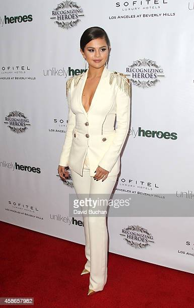 Actress Selena Gomez attends the 3rd Annual Unlikely Heroes Awards Dinner and Gala at Sofitel Hotel on November 8 2014 in Los Angeles California