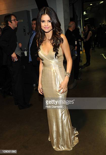 Actress Selena Gomez attends The 53rd Annual GRAMMY Awards held at Staples Center on February 13 2011 in Los Angeles California