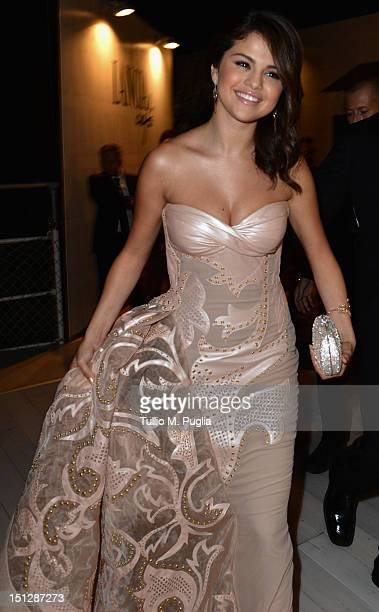 Actress Selena Gomez attends the 69th Venice Film Festival at Lancia Cafe on September 5 2012 in Venice Italy