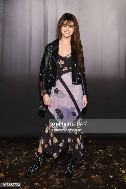 Actress Selena Gomez attends the Coach Fall 2018 Runway Show at Basketball City on February 13 2018 in New York City
