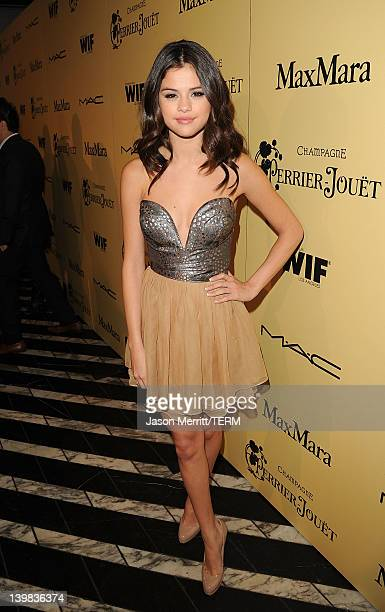 Actress Selena Gomez attends the Fifth Annual Women In Film PreOscar Cocktail Party at Cecconi's Restaurant on February 24 2012 in Los Angeles...