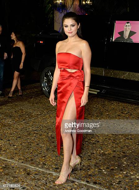Actress Selena Gomez attends the Hotel Transylvania 2 photo call during Summer Of Sony Pictures Entertainment 2015 at The RitzCarlton Cancun on June...