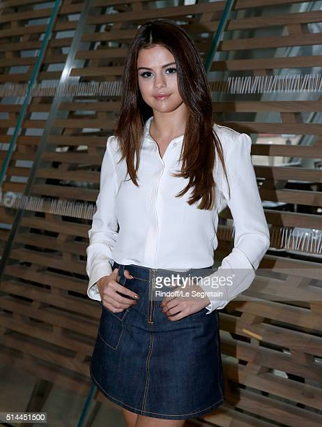 Actress Selena Gomez attends the Louis Vuitton show as part of the Paris Fashion Week Womenswear Fall/Winter 2016/2017 Held at Louis Vuitton...