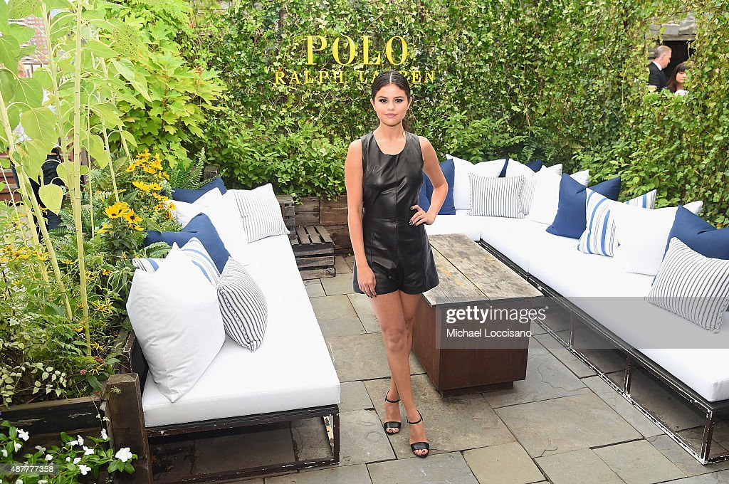 Actress Selena Gomez attends the Polo Ralph Laurenfashion show during Spring 2016 New York Fashion Week at Gallow Green at the McKittrick Hotel on September 11, 2015 in New York City.