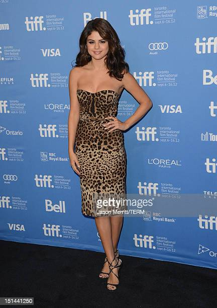 Actress Selena Gomez attends the Spring Breakers photo call during the 2012 Toronto International Film Festival at TIFF Bell Lightbox on September 7...