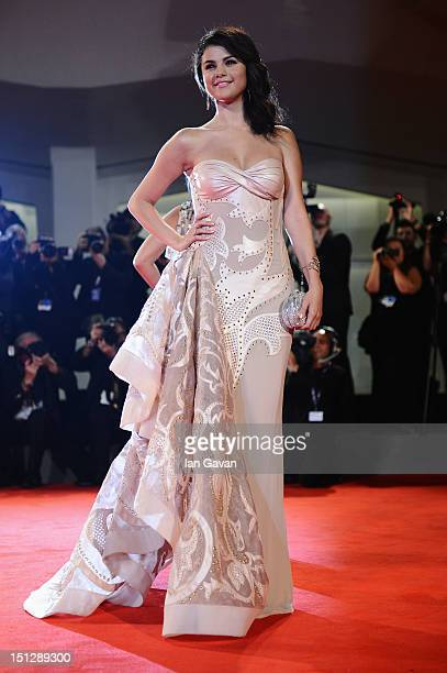 Actress Selena Gomez attends the Spring Breakers Premiere during The 69th Venice Film Festival at the Palazzo del Cinema on September 5 2012 in...