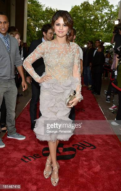 Actress Selena Gomez attends the 'Spring Breakers' premiere during the 2012 Toronto International Film Festival at Ryerson Theatre on September 7...