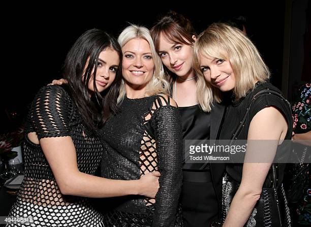 Actress Selena Gomez honoree Kate Young actors Dakota Johnson and Michelle Williams attend the InStyle Awards at Getty Center on October 26 2015 in...