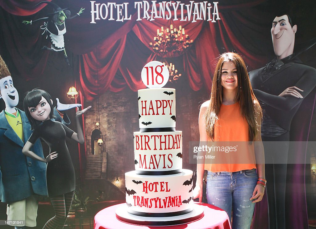 Fabulous Actress Selena Gomez Poses With A Birthday Cake For Her Character Funny Birthday Cards Online Inifodamsfinfo