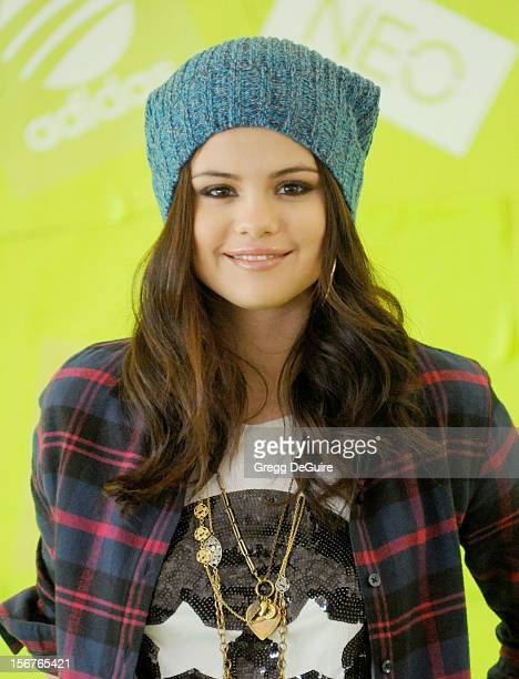 Actress Selena Gomez signs with adidas NEO label as global style icon and guest designer on November 20 2012 in Los Angeles California