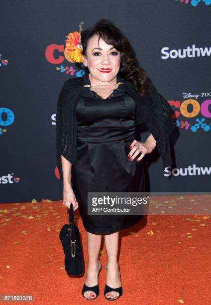 Actress Selene Luna attends the Disney Pixar's COCO premiere on November 8 in Hollywood California / AFP PHOTO / VALERIE MACON