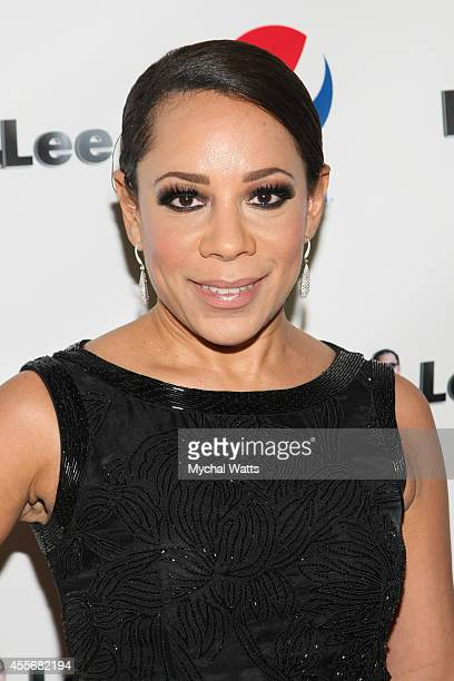 Actress Selenis Levya attends the Exclusivleecom Launch Party>> at Stray Kat Gallery on September 18 2014 in New York City