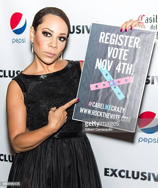 Actress Selenis Levya attends the New York Launch party for Exclusivlee.com at Stray Kat Gallery on September 18, 2014 in New York City.