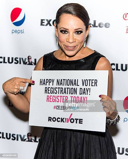 Actress Selenis Levya attends the New York Launch party for Exclusivleecom at Stray Kat Gallery on September 18 2014 in New York City