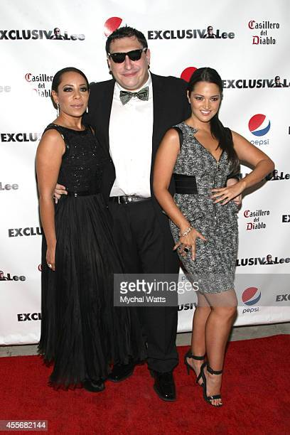 Actress Selenis Levya Founder Lee Hernandez and Actress Paula Garces attends the Exclusivleecom Launch Party>> at Stray Kat Gallery on September 18...