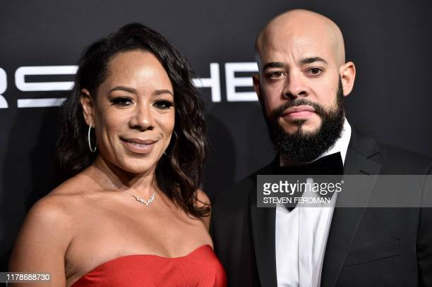 Actress Selenis Leyva and Arnol Leyva attend Gabrielle's Angel Foundation for Cancer Research Angel Ball 2019 at Cipriani Wall Street on October 28,...