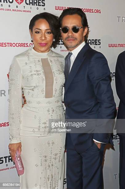 Actress Selenis Leyva and singer/songwriter Marc Anthony attend the Maestro Cares Foundation's Fourth Annual Changing Lives/Building Dreams Gala at...