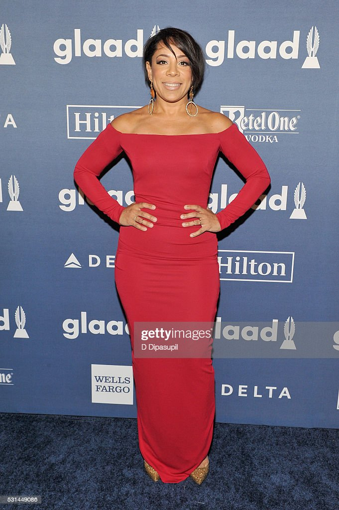 Actress Selenis Leyva attends at The 27th Annual GLAAD Media Awards with Hilton at Waldorf Astoria Hotel on May 14, 2016 in New York City.