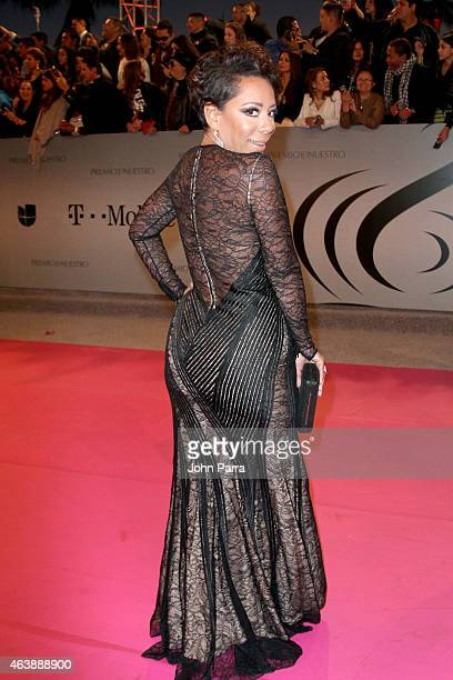 Actress Selenis Leyva attends the 2015 Premios Lo Nuestros Awards at American Airlines Arena on February 19 2015 in Miami Florida
