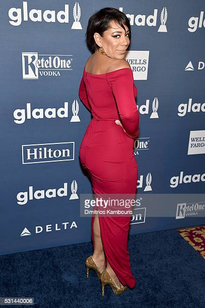 Actress Selenis Leyva attends the 27th Annual GLAAD Media Awards in New York on May 14 2016 in New York City