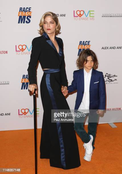Actress Selma Blair and her son Arthur Saint Bleick attend the 26th annual Race To Erase MS Gala at The Beverly Hilton Hotel on May 10, 2019 in...