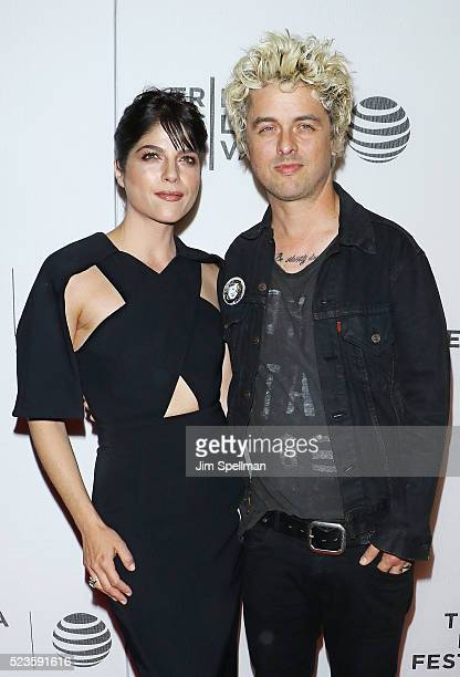 "Actress Selma Blair and musician Billie Joe Armstrong attend the ""Geezer"" premiere during the 2016 Tribeca Film Festival at Spring Studios on April..."