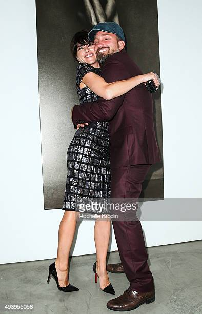 Actress Selma Blair and photographer Brian Bowen Smith attend 'Metallic Life' by Brian Bowen Smithbrought to you by CASAMIGOS Tequila at De Re...