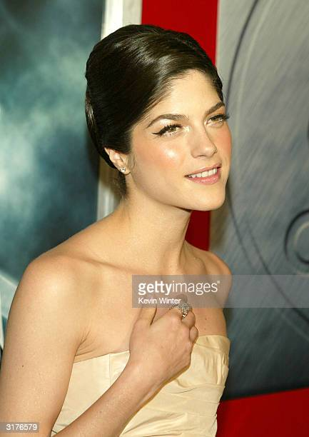 "Actress Selma Blair arrives at the premiere of ""Hellboy"" at the Mann Village Theater on March 30, 2004 in Los Angeles, California."