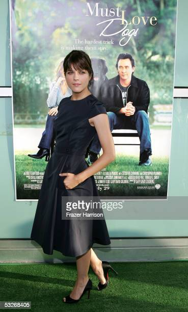 Actress Selma Blair arrives at the premiere of Must Love Dogs at the Cinerama Dome on July 21 2005 in Hollywood California