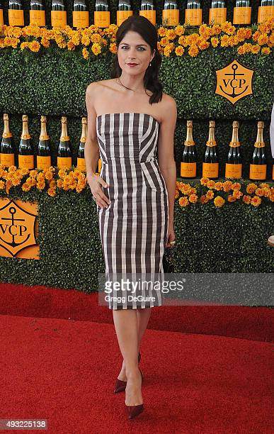 Actress Selma Blair arrives at the SixthAnnual Veuve Clicquot Polo Classic Los Angeles at Will Rogers State Historic Park on October 17 2015 in...
