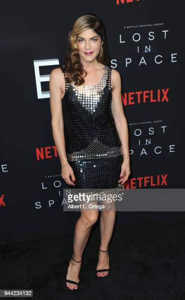Actress Selma Blair arrives for the Premiere Of Netflix's 'Lost In Space' Season 1 held at The Cinerama Dome on April 9 2018 in Los Angeles California