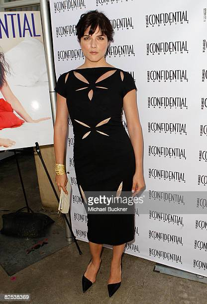 Actress Selma Blair attends the celebration of Selma Blair's Los Angeles Confidential Magazine Cover at the Crescent Hotel on August 24, 2008 in...