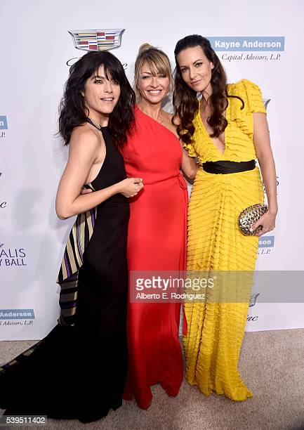 Actress Selma Blair cochair Rebecca Gayheart and guest attend the 15th Annual Chrysalis Butterfly Ball at a Private Residence on June 11 2016 in...