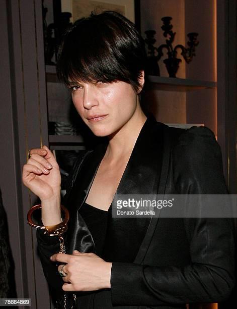 Actress Selma Blair during the Kiki De Montparnasse store opening at Kiki De Montparnasse on December 3 2007 in Los Angeles California