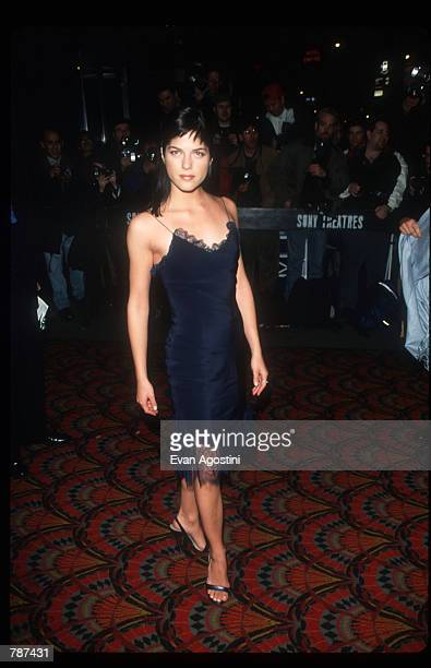 Actress Selma Blair poses for a picture March 3 1999 at the premiere of Cruel Intentions in New York City Blair plays the once innocent but slowly...