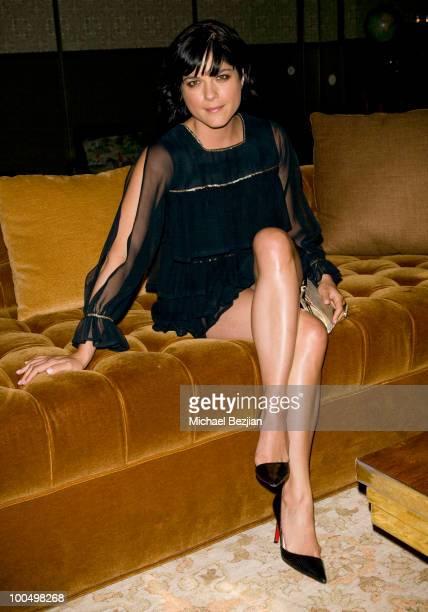 Actress Selma Blair posing at Soho House on May 24 2010 in West Hollywood California