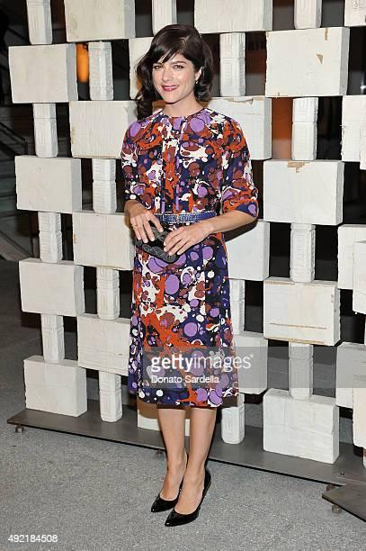 Actress Selma Blair wearing Bottega Veneta attends the Hammer Museum Gala in Garden sponsored by Bottega Veneta at Hammer Museum on October 10 2015...