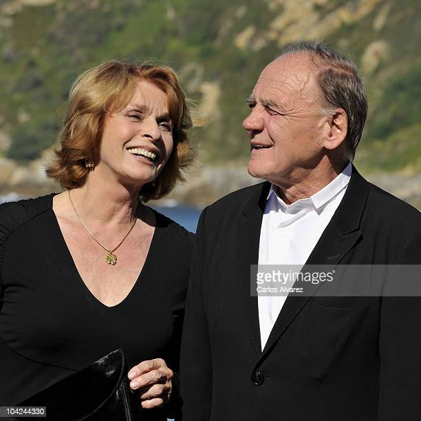 Actress Senta Berger and actor Bruno Ganz attend Satte Farben Vor Schwarz photocall during the 58th San Sebastian International Film Festival on...