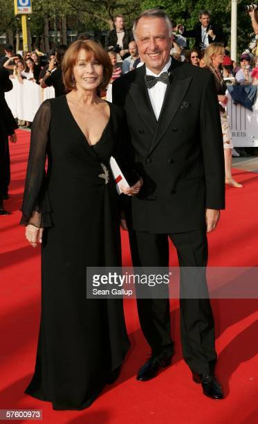 Actress Senta Berger and State Culture Minister Bernd Neumann arrive at the German Film Awards at the Palais am Funkturm May 12 2006 in Berlin Germany