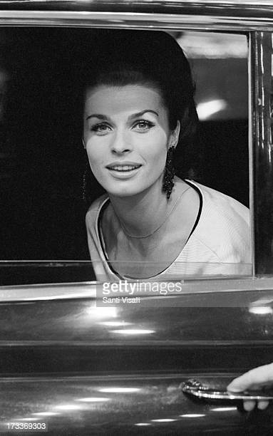 Actress Senta Berger at a movie premiere on May 51966 in New York New York